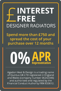 Interest free designer radiators from Agadon Designer Radiators