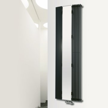 Aurora C Curved Vertical Designer Tube Mirror Radiator