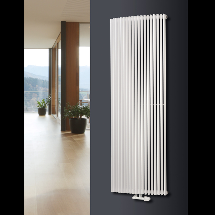 Aurora C Curved Vertical Designer Tube Radiator