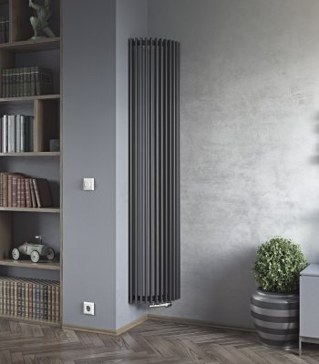 aurora e corner vertical designer tube radiator agadon. Black Bedroom Furniture Sets. Home Design Ideas