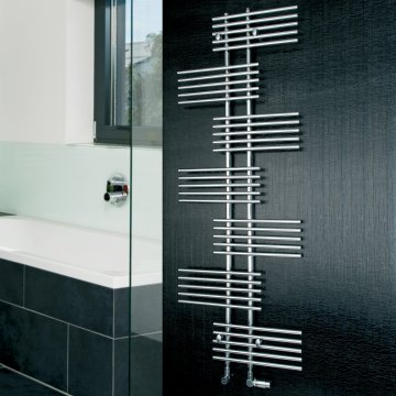 Doris Parallel Rail Towel Radiator - 1762 x 650 - Chrome