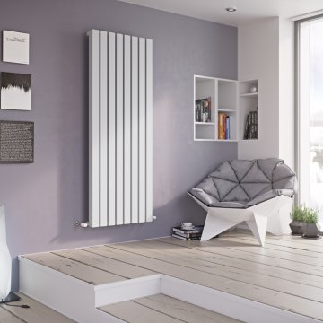 Duett Square Designer Radiator Vertical Tube