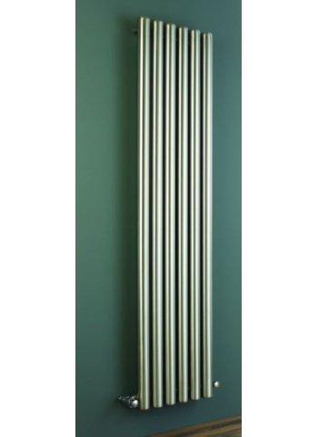 Duett Stainless Steel Vertical Tube Designer Radiator - 1800 x 435 - Stainless Steel (Brushed)