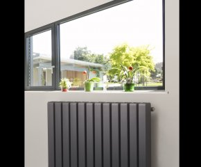Duett Square Horizontal Radiator with Vertical Tube