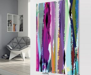 Glass Designer Radiator D3 Multi Paint Double Image