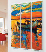 Glass Designer Radiator M12 Multi Colour Boat Triple  Image
