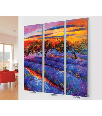 Glass Designer Radiator M9 Colourful Meadow Triple  Image