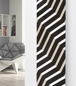 Glass Designer Radiator P104 Black Lines Abstract