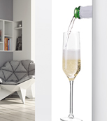 Glass Designer Radiator P106 Pouring Champagne Image