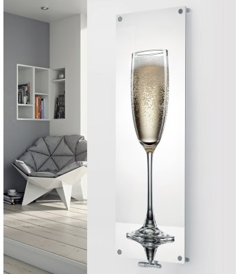 Glass Designer Radiator P107 Simple Champagne Image
