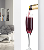 Glass Designer Radiator P108 Pouring Rose Champagne Image
