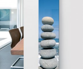 Glass Designer Radiator P11 Pebbles Image