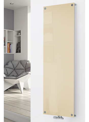 Glass Designer Radiator P117 RAL 1015 Light Ivory
