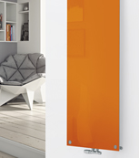 Glass Designer Radiator P119 RAL 2000 Yellow Orange
