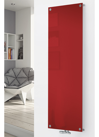 Glass Designer Radiator P120 RAL 3000 Flame Red