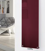 Glass Designer Radiator P121 RAL 3005 Wine Red