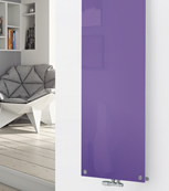Glass Designer Radiator P122 RAL 4005 Blue Lilac