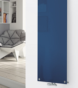 Glass Designer Radiator P124 RAL 5000 Violet Blue