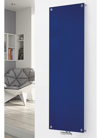 Glass Designer Radiator P125 RAL 5002 Ultramarine Blue