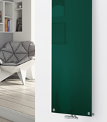 Glass Designer Radiator P127 RAL Moss Green