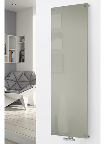 Glass Designer Radiator P129 RAL 7032 Pebble Grey