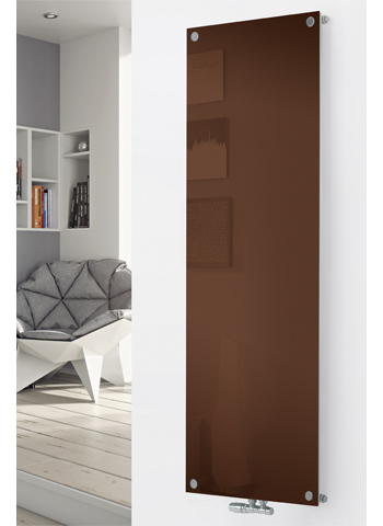 Glass Designer Radiator P130 RAL 8011 Nut Brown