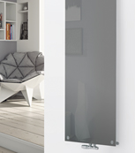 Glass Designer Radiator P132 RAL 9007 Grey Aluminium
