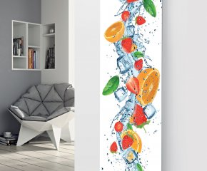 Glass Designer Radiator P135 Orange Fruit Splash