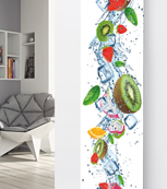 Glass Designer Radiator P136 Kiwi Fruit Splash Image