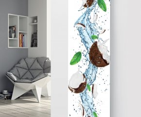 Glass Designer Radiator P137 Coconut Splash Image