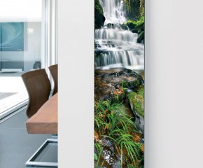 Glass Designer Radiator P14 Waterfall Image