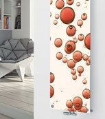 Glass designer radiator P174 Red Bubbles Image