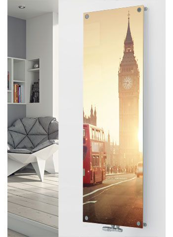 Glass designer radiator P175 Big Ben Image