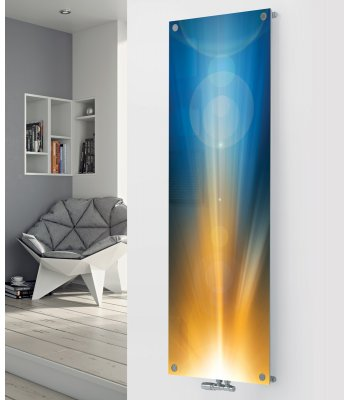 Glass Designer Radiator P34 Sunrise Image