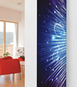 Glass Designer Radiator P36 Disco Lights Image