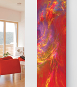 Glass Designer Radiator P39 Red Art Image