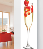 Glass Designer Radiator P41 Champagne Strawberry Image White