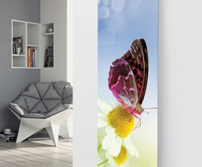 Glass Designer Radiator P42 Butterfly Image