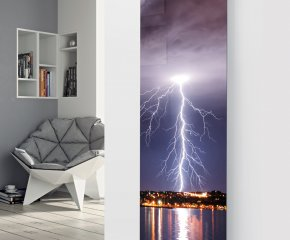 Glass Designer Radiator P46 Lightening Strike Image