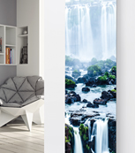 Glass Designer Radiator P57 Waterfall Image