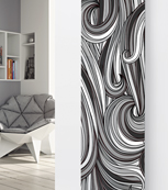 Glass Designer radiator P69 Black and White Abstract Image