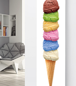 Glass Designer Radiator P72 6 Scoop Ice Cream Image