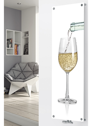Glass Designer Radiator P75 Pouring White Wine Image