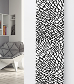 Glass Designer Radiator P76 Black and White Pattern Image