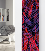 Glass Designer Radiator P82 Multi Coloured Abstract Image