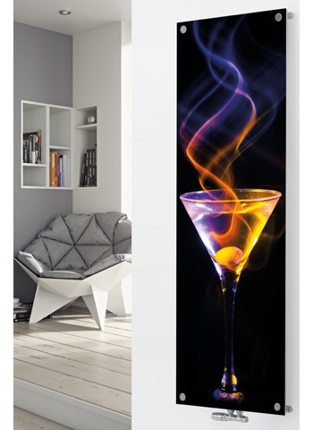 Glass Designer Radiator P87 Cocktail Spiral Image