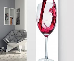 Glass Designer Radiator P88 Pouring Rose Wine Image