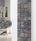 Glass Designer Radiator P98 Grey Tiled Image