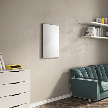 Infrared Glass Room Radiator - 600 x 1200 - White