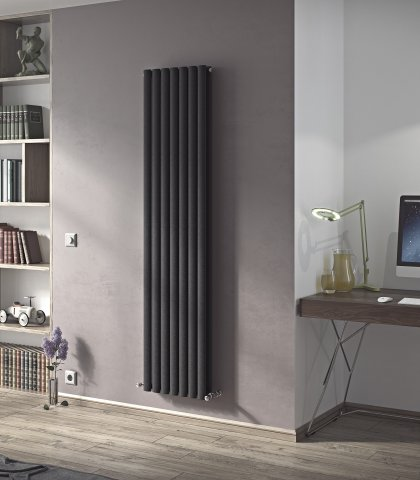 Neo duplex designer radiator vertical oval tube agadon - Designer vertical radiators for kitchens ...